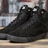 Зимние ботинки на меху Puma , 40,41,42,43,44 размер, замша натуральная, шерсть