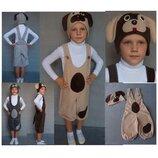 Новогодний костюм Собачка Собака Щенок 4 цвета 2 размера на 3-10 лет для мальчика.