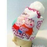 Peppa Pig Свинка Пеппа теплая шапка 3д картинка для девочки