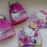 Hello Kitty Хелло Китти теплая шапка на флисе для девочки