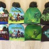 Minecraft крипер Майнкрафт шапка теплая на флисе для мальчика