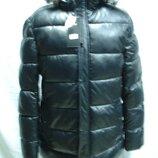 Куртка мужская зимняя полупритал. удлинённая чёрная 54 и 60размеры