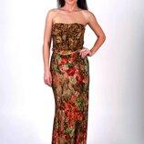 Платье-Бюстье в пол Mango