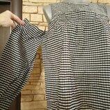 Блуза в клетку,с рюшами,воланами и приоткрытыми плечами