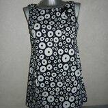 S/M-38/40 River Island стильное платье в горох, стрейчкоттон. новое