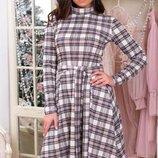 Платье Цена 420 Размер 50, 52, 54 Платье клёш Цвет белый Ткань французский трикотаж