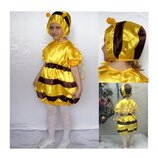 Новогодний костюм Пчела Пчелка 2 размера на 3-7 лет.