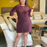 Платье Сьемная брошь в комплекте Размеры - 48-50, 52-54 Ткань - Люрекс
