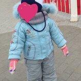 Комбинезон 1,5-2 года, детский зимний комбинезон, детский комбинезон, комбинезон, зимняя куртка