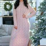 Вязаное платье 48 - 54 четыре расцветки