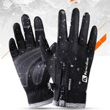 Зимние теплые перчатки сенсорные ветрозащитные водонепроницаемые мужские женские