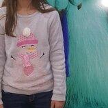 Свитшот новогодний YD Германия на девочку 10-12лет