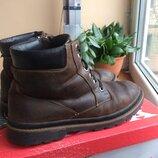 Зимние ботинки на меху натуральная кожа