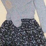 Платье для девочки, юбка клёш