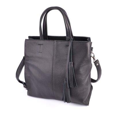 Деловая сумка М243 black черная натуральная кожа