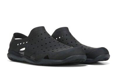 Сандали крокс аквашузы сандали Crocs Men's Swiftwater Wave Sandal Flat black