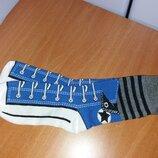 Прикольные носки с рисунком синие кеды Сonverse