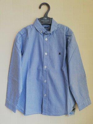 Рубашка Rebel Primark 4-5 лет, новая с длинным рукавом хлопок сорочка ребел примарк полосатая