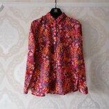 Размер М Модная яркая фирменная тоненькая хлопковая рубашка