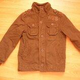 Парка, пальто, куртка H&M, на 8-9 лет, 134 рост, 100% коттон