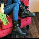 Ботинки берцы женские зимние кожаные
