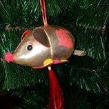 Крыса плюшевая мышь 1шт