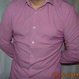 Брендовая стильная фирменная рубашка сорочка Hugo Boss.л.42-43 .17.