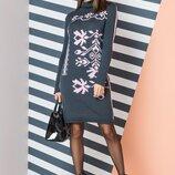 Красивое вязаное платье туника. Есть цвета