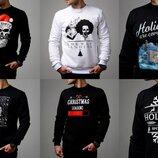 Новогодний свитер свитшот высокого качества, мужской, черный, белый, Топ качество BAF3