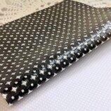Эко-Кожа перфорация Звезды 20 30 см,цвет черный,1 шт.
