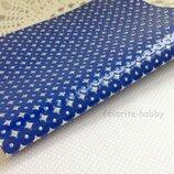 Эко-Кожа перфорация Звезды 20 30 см,цвет синий,1 шт.