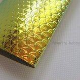 Эко-Кожа Чешуя 20 30 см,цвет золото,1 шт.