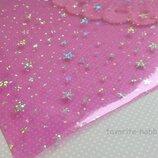 Эко-Кожа силикон Звезды 20 30 см,цвет малиновый,1 лист