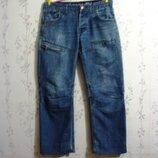 Джинсы Пот- 43 см Loose Fit W32 L32 на пуговицах мужские брюки