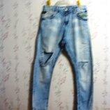 Джинсы Пот- 42 см Line Denim Exibit 29 мужские брюки рваные