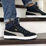 кроссовки зимние Puma Suede ботинки мужские