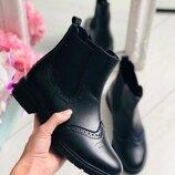 Модные стильные женские ботинки челси зимние демисезонные сапоги