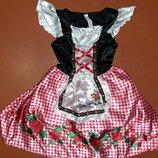Карнавальное платье красной шапочки 5-6 лет.