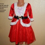 яркое модное новенькое платье 5-6 лет