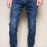 Стрейчевые мужские джинсы на флисе Dsqatard,размер 27-34.