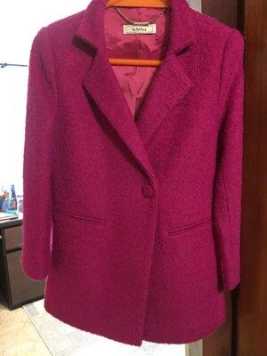 Стильное итальянское шерстяное пальто для девочки
