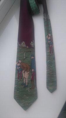 Шелк 100% Распродажа Итальянский фирменный винтажный галстук carlo palazzi Италия