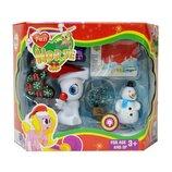 пони снеговик новогодняя Новогодний набор Lovely Pony с белым пони 3216D