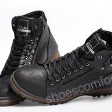 Ботинки кожаные зимние Clarks Shoemakers черные