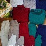 Стильные вязаные костюмы , разные цвета