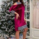 Шик платье бархат-блеск люрекс Барнеса, Размер 48-50,52-54,56-58.