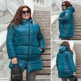 Куртка женская зимняя зефирка синтепон 250 батал размеры 48-50 52-54 56-58