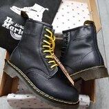 Как оригинал. Женские зимние ботинки Dr. Martens черные с Мехом Зима KS 1282