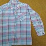 рубашка в клеточку на мальчика 8-10 лет