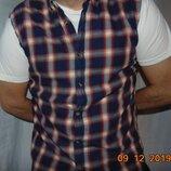 Стильная фирменная рубашка безрукавка бренд Casual .л
